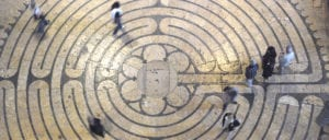 Chartres Cathedral Labyrinth photo by Jill K H Geoffrion