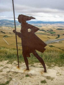 Pilgrim statue on the Camino de Santiago by photographer Jill K H Geoffrion